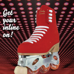 Inline roller figure skates
